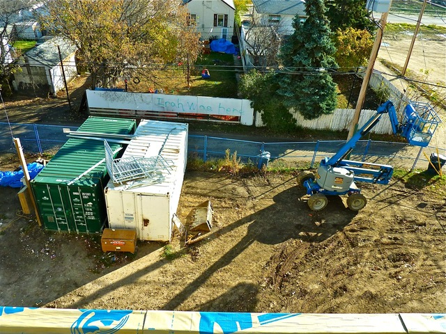 October 19, 2011 - Bird's eye view - transformer for building power supply being installed
